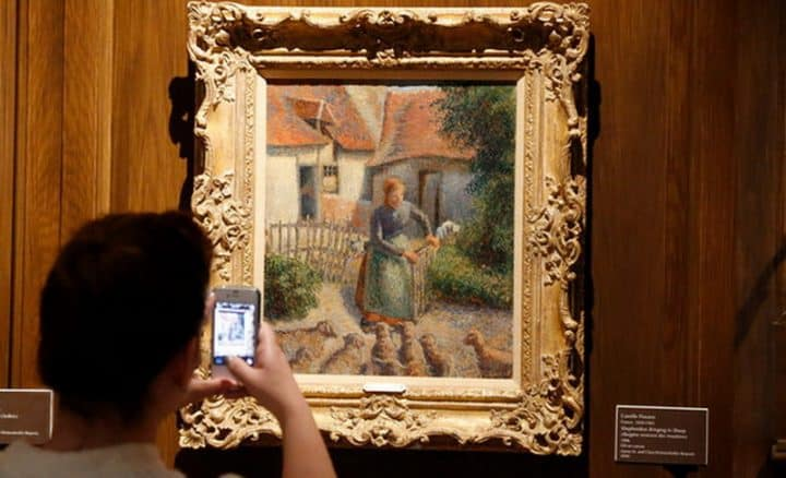 #pissaro - Pissarro painting looted by Nazis and owned by the University of Oklahoma to return to France - @artdaily.org Artes & contextos Pissaro II 1
