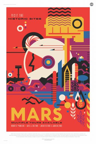 #nasa #spacetravel - Download 14 Free Posters from NASA That Depict the Future of Space Travel in a Captivatingly Retro Style - @Open Culture Artes & contextos download 14 free posters from nasa that depict the future of space travel in a captivatingly retro style