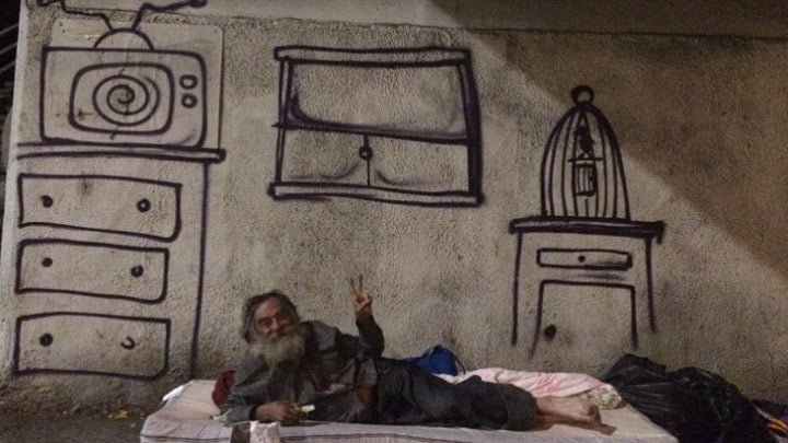 #streetart - Los Angeles Street Art is Highlighting the City's Failure to Address Homelessness @AFH Ambrosia forHeads Artes & contextos los angeles street art is highlighting the citys failure to address homelessness