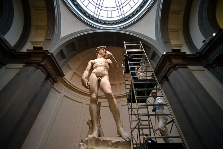 #michelangelo - Michelangelo's world-famous statue of David gets expensive clean-up by experts - @artdaily.org Artes & contextos David