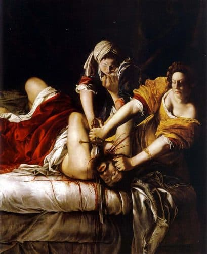Judith beheading Holofernes - Gentileschi