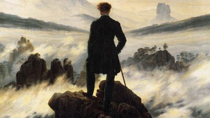 Romantismo - A íntima inquietação Artes & contextos Caminhante sobre o mar de névoa