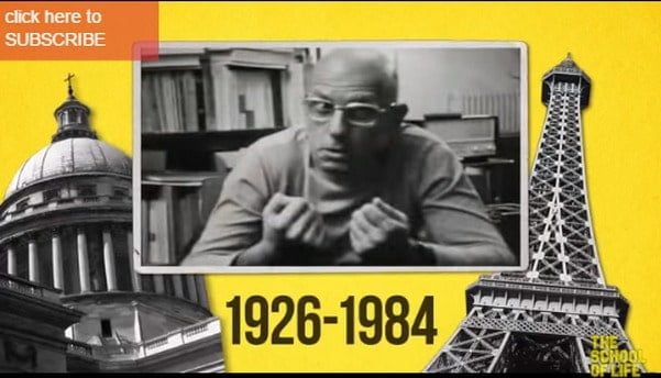 Watch Animated Introductions to 25 Philosophers by The School of Life: From Plato to Kant and Foucault - @Open Culture Artes & contextos Michel Foucault