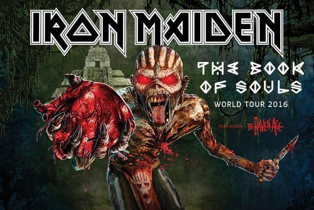 IRON MAIDEN: Video Footage Of Last Night's Los Angeles Concert - @Blabbermouth.net #ironmaiden Artes & contextos ironmaidenworldtour2015poster