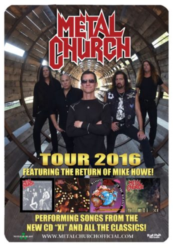 METAL CHURCH: Video Footage Of New York City Concert - @Blabbermouth.net #metalchurch Artes & contextos metalchurch2016tourposter 638