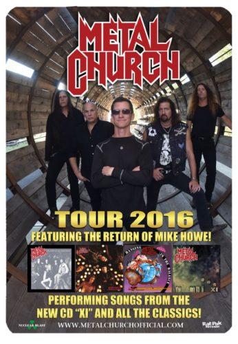 METAL CHURCH: Video Footage Of New York City Concert - @Blabbermouth.net #metalchurch Artes & contextos metalchurch2016tourposter 638