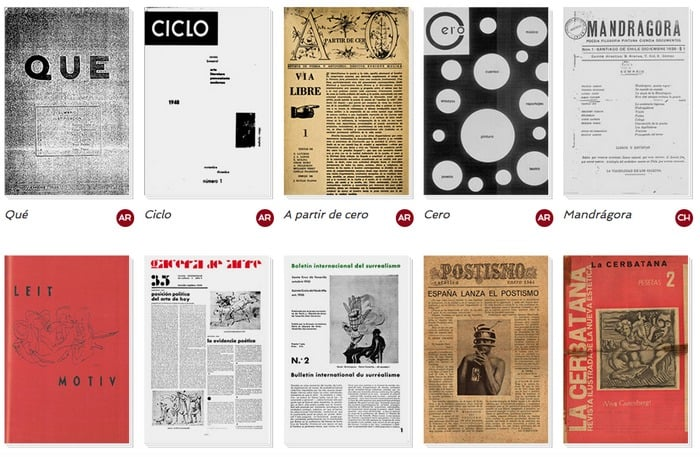 10 Digital Editions of Surrealist Journals from Argentina, Chile & Spain (1928-67) - @Open Culture Artes & contextos Jornais Surrealistas