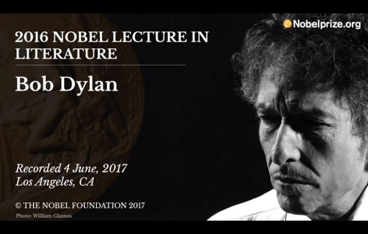 Bob Dylan's Newly-Released Nobel Lecture