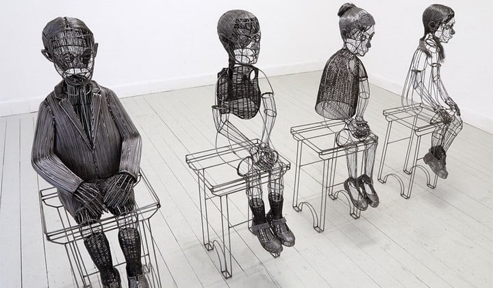 Wire Figures of Roberto Fanari