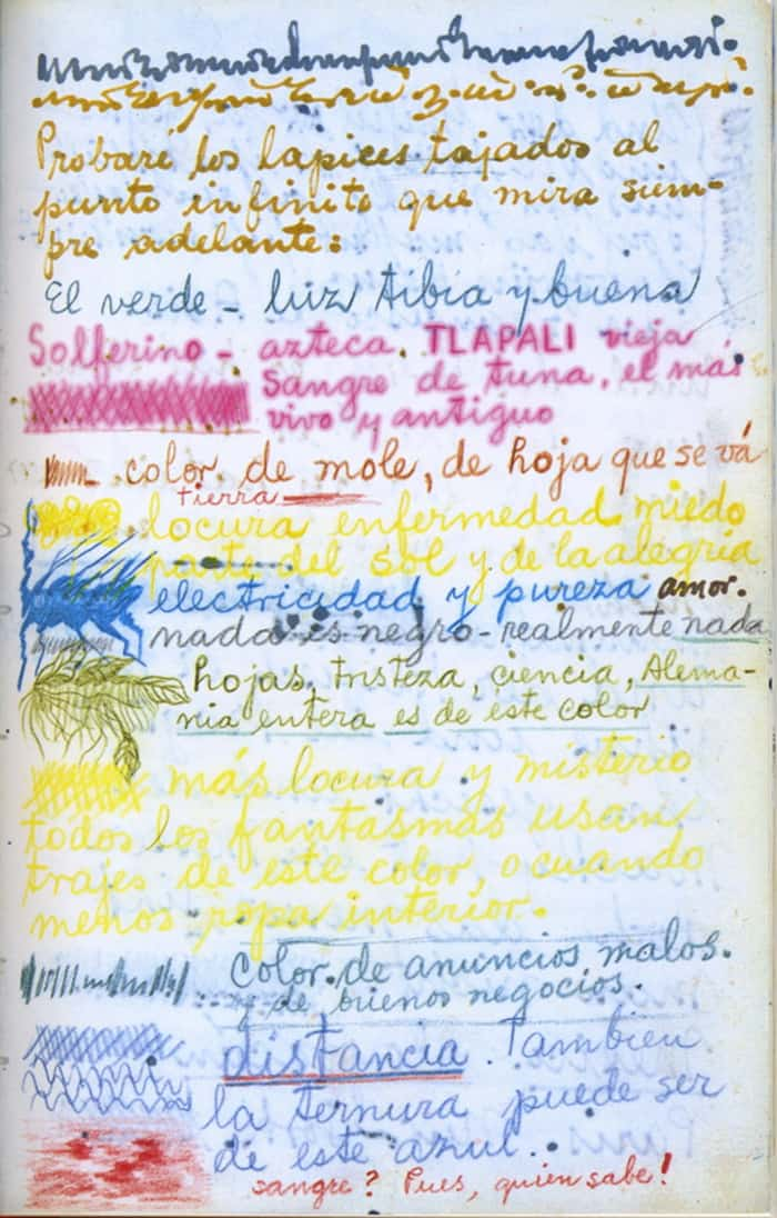 Frida Kahlo on the Meanings of the Colorsn