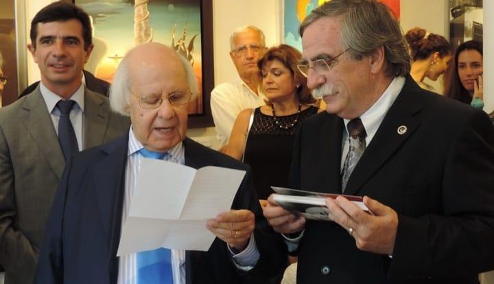 Mestre Hilário Teixeira Lopes e Alvaro Lobato de Faria