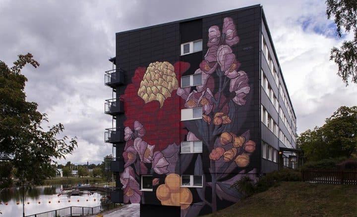 Pastel New Mural in Säffle, Sweden