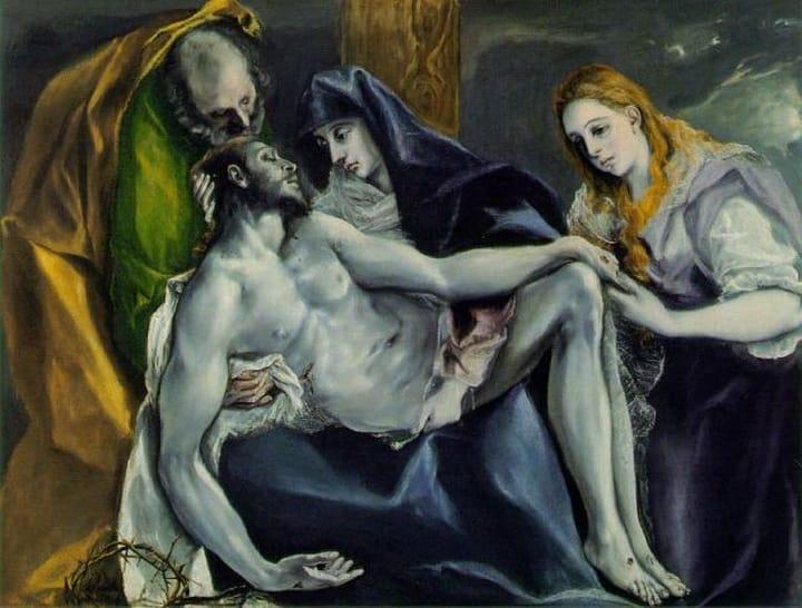 Pietá El Greco (en Periodo blu di Pablo Picasso )