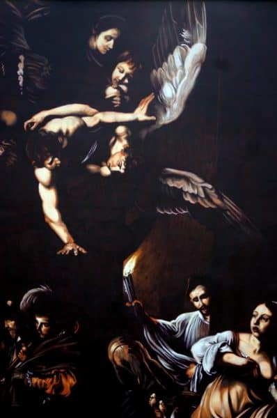"""""""The seven works of Mercy"""" by Caravaggio in Rome, reproduced by Andrea Ravo Mattoni Artes & contextos Caravaggio in Rome reproduced by Andrea Ravo Mattoni 7 1"""