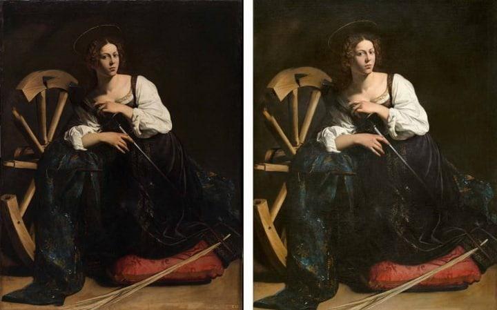 """Caravaggio: """"Santa Catalina de Alejandría"""""""