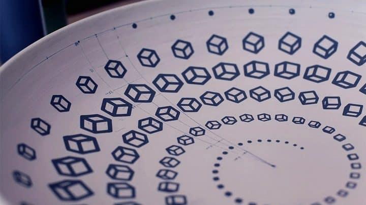 Graphically Designed Ceramic Vessels FI