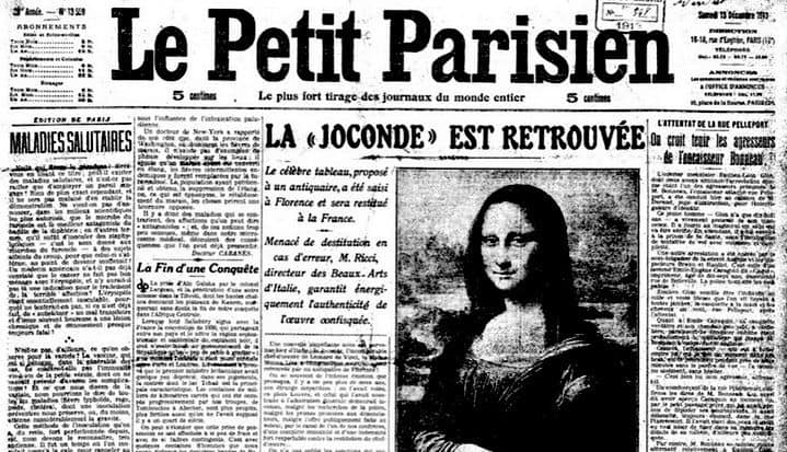 When Picasso and Apollinaire Were Accused of Stealing the Mona Lisa