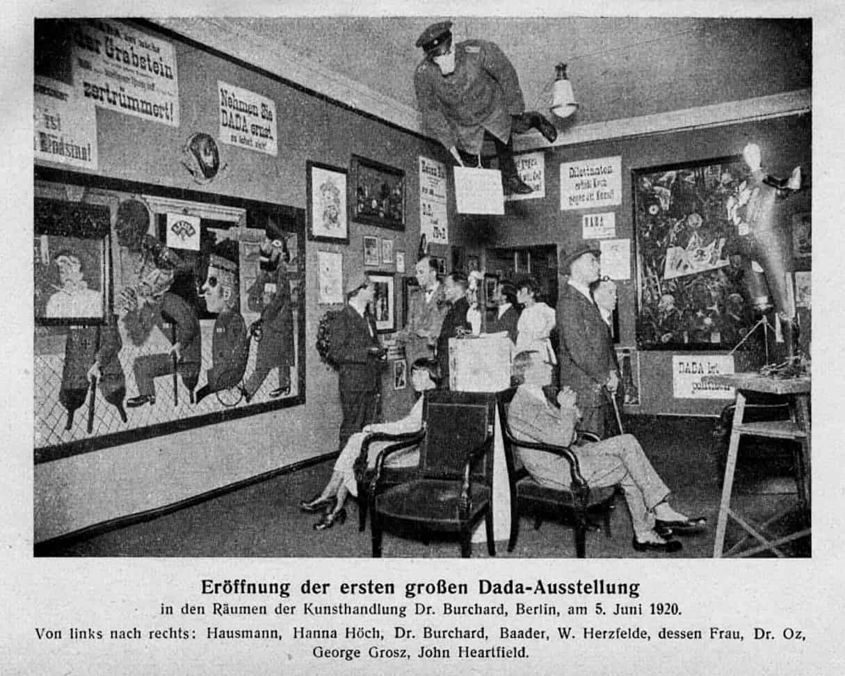 Grand opening of the first Dada exhibition Berlin 5 June 1920 Dadaism
