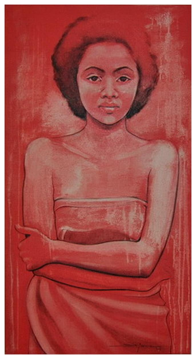 Dila Moniz - Menina Mulher, Acrílico sobre tela, 130 x 70 cm