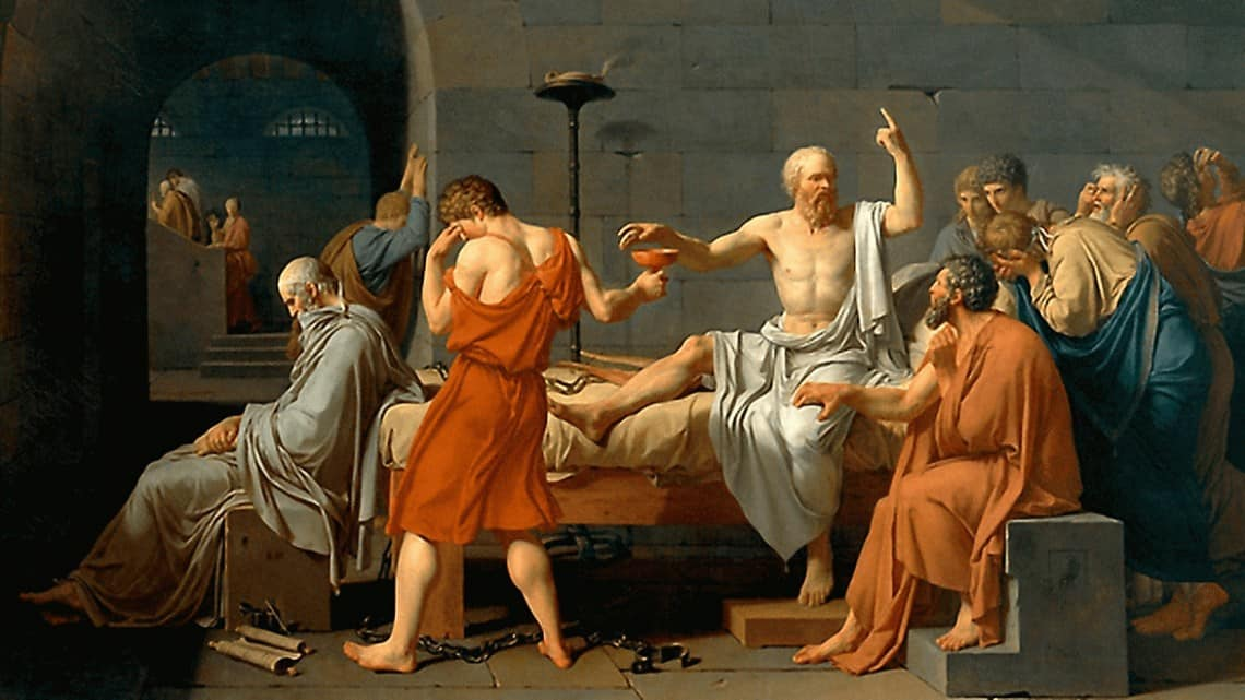 A Morte de Sócrates, por Jacques Louis David (1787