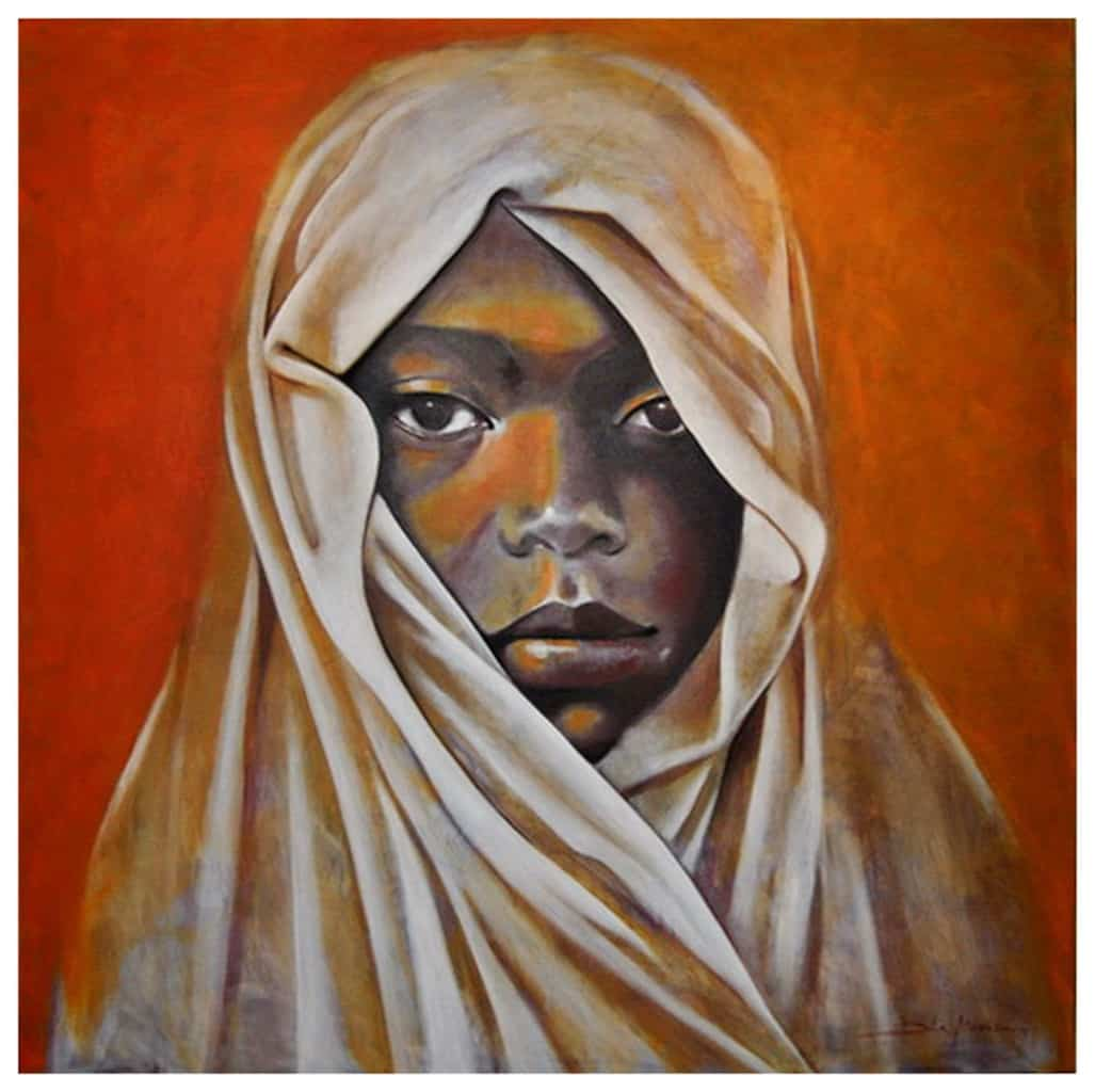 Dila Moniz - Maria Josué, Acrílico sobre tela 130 x 130 cm