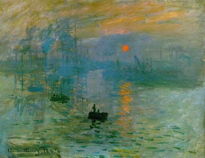 Claude Monet - Impression. soleil levant (c. 1872)