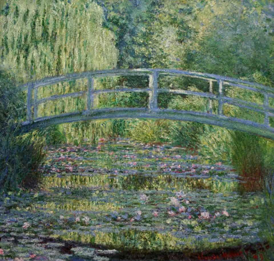 Claude Monet - Le pont japonais sur le bassin aux nymphéas à Giverny