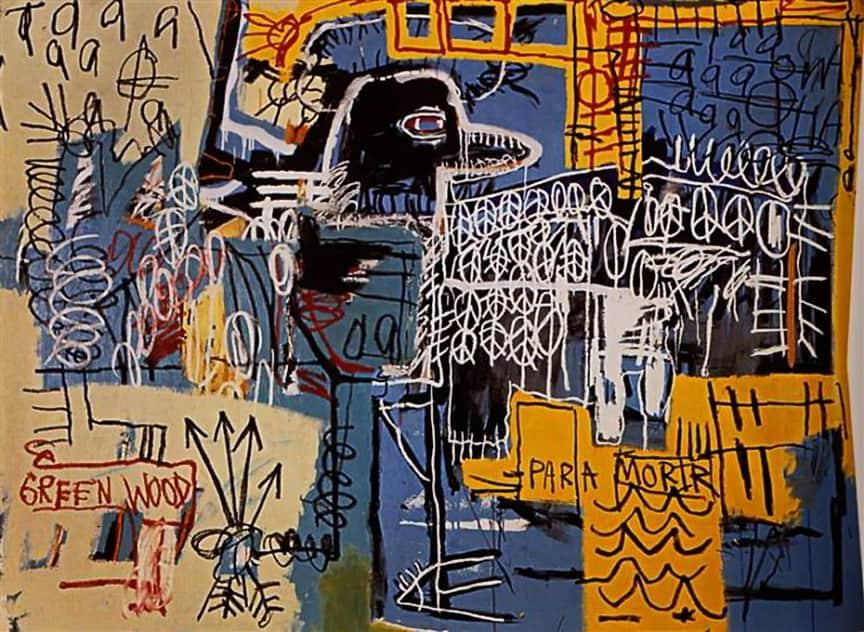 "A Evolução da Arte Urbana Artes & contextos Bird on Money"" 1981 by Jean Michel Basquiat Image WikiArt"