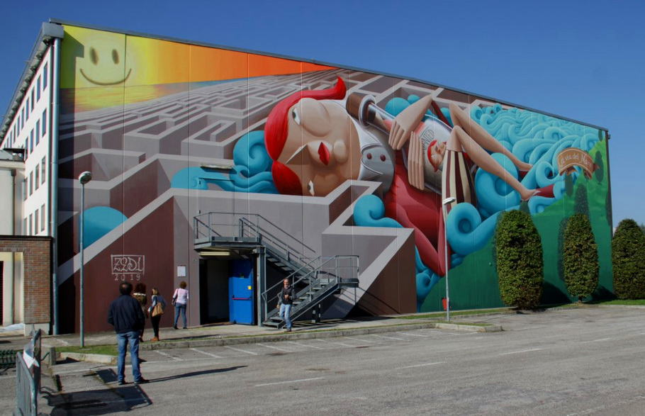 The Way To The Sea By Zed1 in Vicenza, Italy