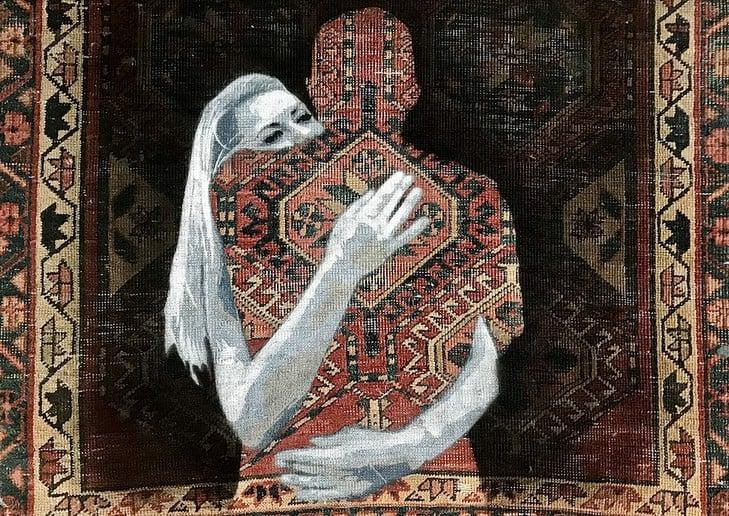 Nafir em Teerão, Juntar tecelagem e Eslimi Artes & contextos Nafir Artista de Rua Vândalo fi
