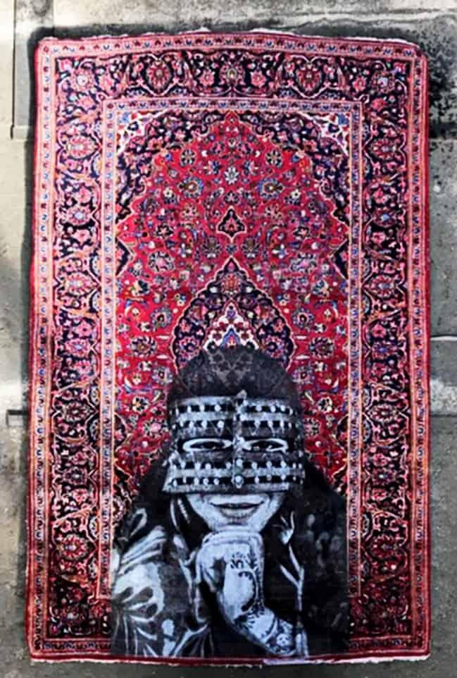 Nafir em Teerão, Juntar tecelagem e Eslimi Artes & contextos Nafir Artista de Rua Vândalo ii