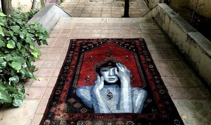Nafir em Teerão, Juntar tecelagem e Eslimi Artes & contextos Nafir Artista de Rua Vândalo iv