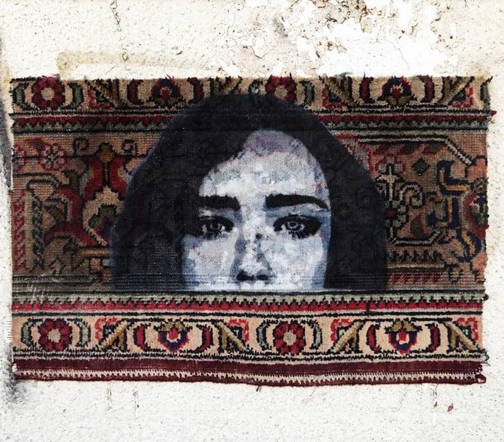 Nafir em Teerão, Juntar tecelagem e Eslimi Artes & contextos Nafir Artista de Rua Vândalo