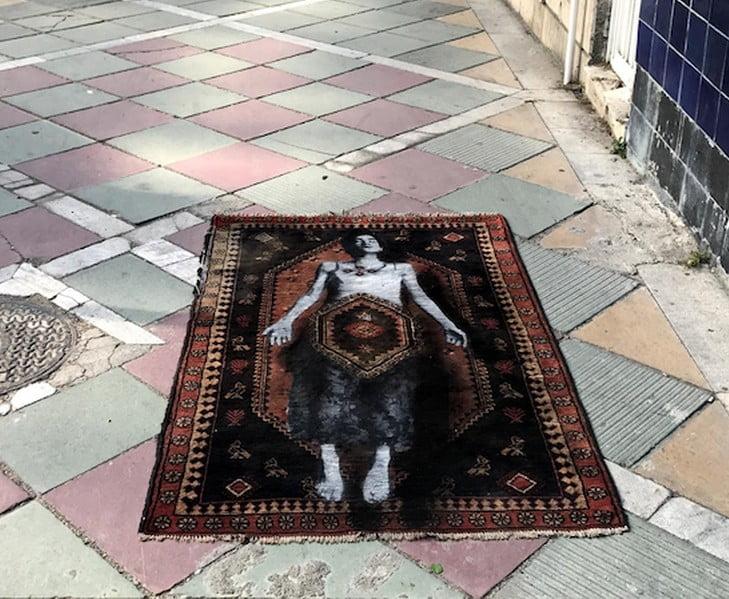 Nafir em Teerão, Juntar tecelagem e Eslimi Artes & contextos Nafir Artista de Rua Vândalo v