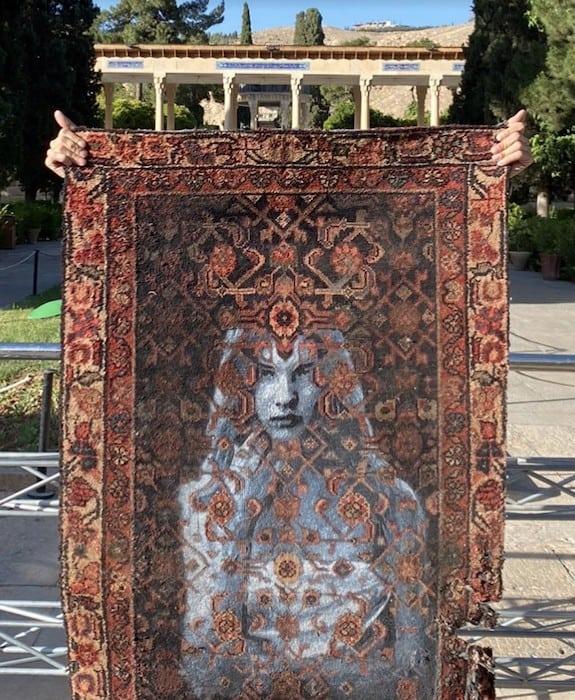 Nafir em Teerão, Juntar tecelagem e Eslimi Artes & contextos Nafir Artista de Rua Vândalo vi