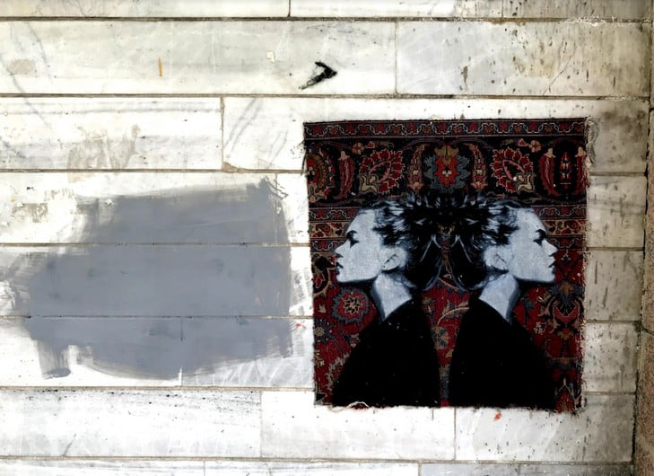 Nafir em Teerão, Juntar tecelagem e Eslimi Artes & contextos Nafir Artista de Rua Vândalo vii