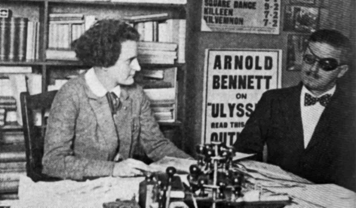 Sylvia Beach, left, with James Joyce PAW, Feb. 16, 1965