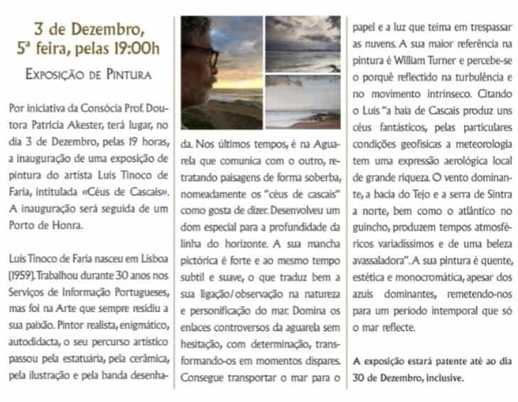"""""""Céus de Cascais"""" Artes & contextos Luis tinoco"""