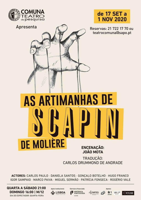"""Fair Saturday Lisboa - """"As artimanhas de Scapin"""" Artes & contextos Teatro"""