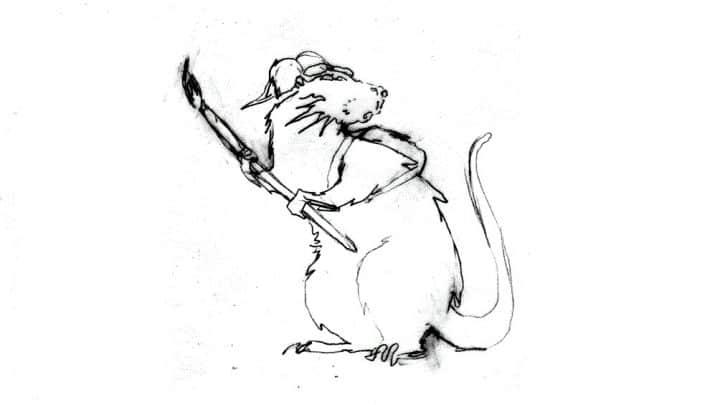 Descobrindo Banksy – Parte 3 (Esboços) Artes & contextos Banksy Esboco de Rato