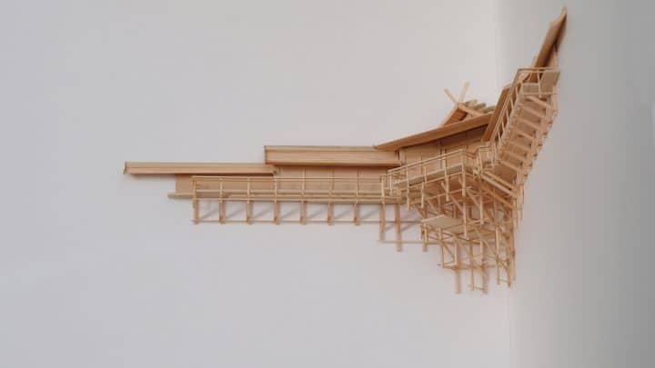 Um elaborado santuário Kamidana com design de Naohiko Shimoda Artes & contextos an elaborate kamidana shrine designed by naohiko shimoda wraps an inner corner