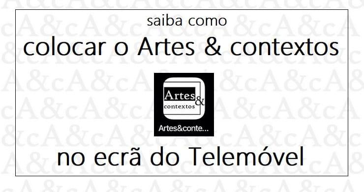 App Artes & contextos Artes & contextos Icone no telemovel FB 740 x 390
