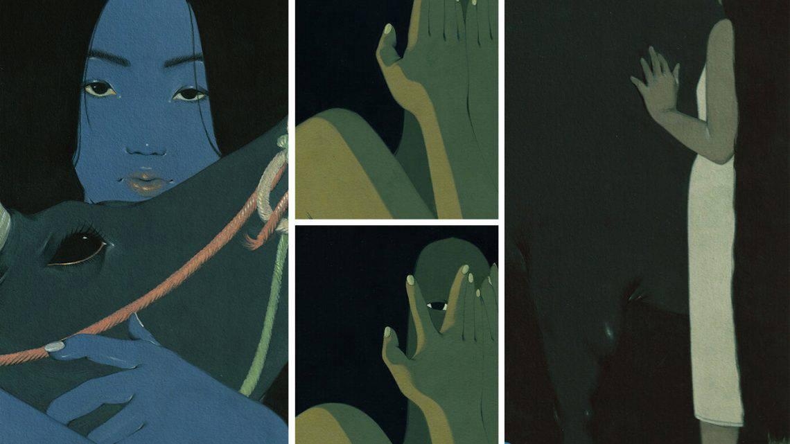 Plantas, Cabelos e Sombras, Obscurecem Mulheres em Pinturas Introspetivas de Mai Ta Artes & contextos plants hair and shadows obscure women in introspective gouache paintings