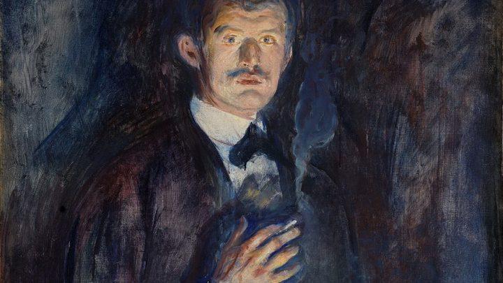 Auto-retrato com Cigarro, Edward Munch, 1895