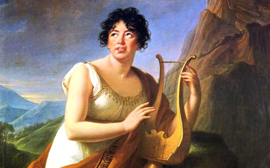 Madame de Staël retratada como Corinne Artes & contextos Marie Louise Elisabeth Vigée Lebrun