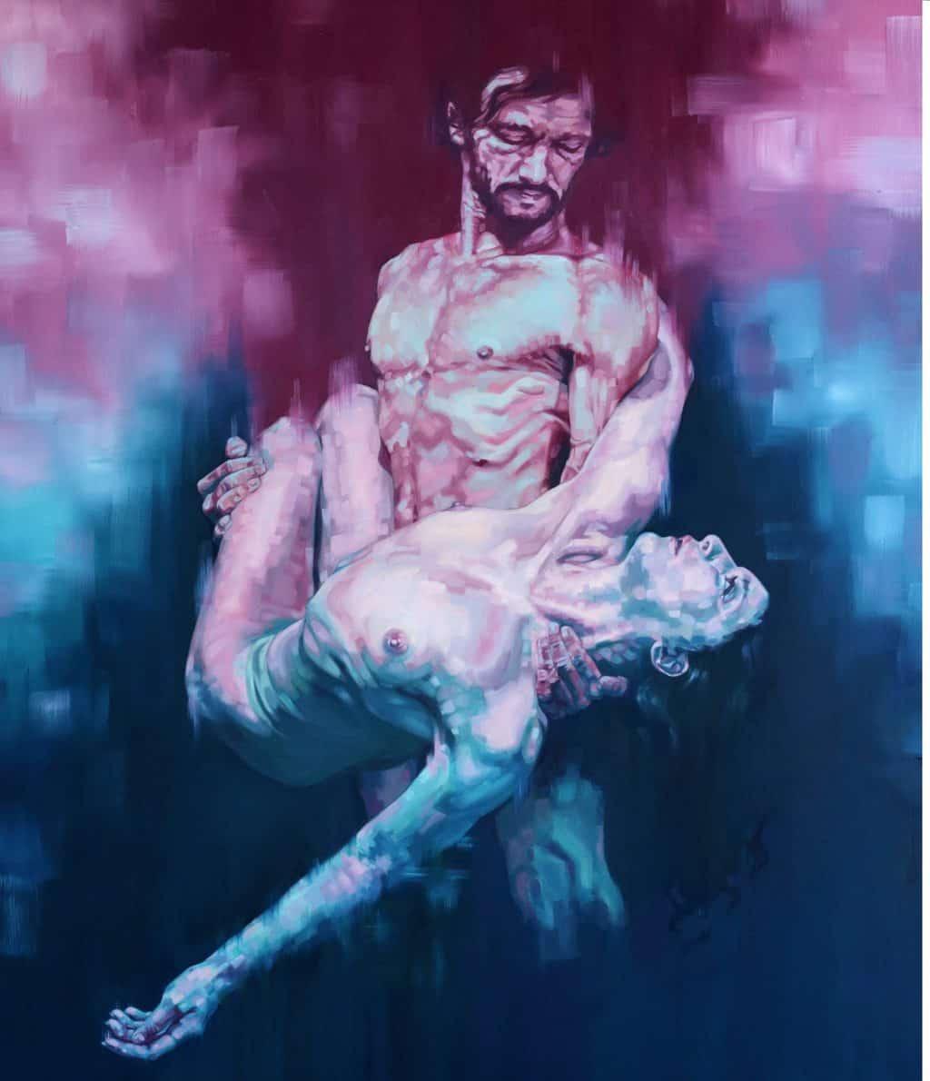Hélène Planquelle - Where Is Your Brother I, Óleo sobre tela 120x140 cm