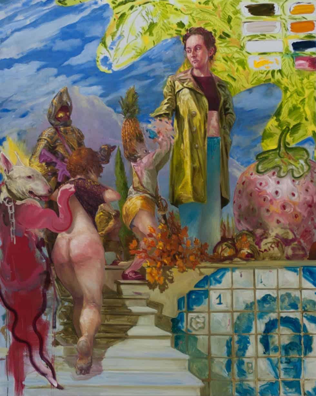 Enzo Certa - Forçar o vício Artes & contextos Il grande sculacciata – huile sur toile – 2020 – 160cm x 130cm