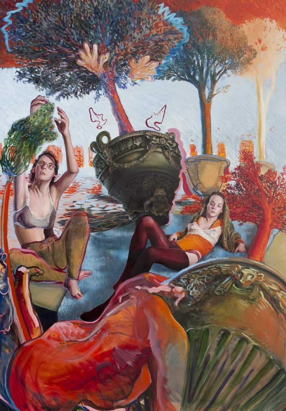 Enzo Certa - Forçar o vício Artes & contextos Suzanne et les vioques – huile sur toile – 2018 – 114 x 163 cm