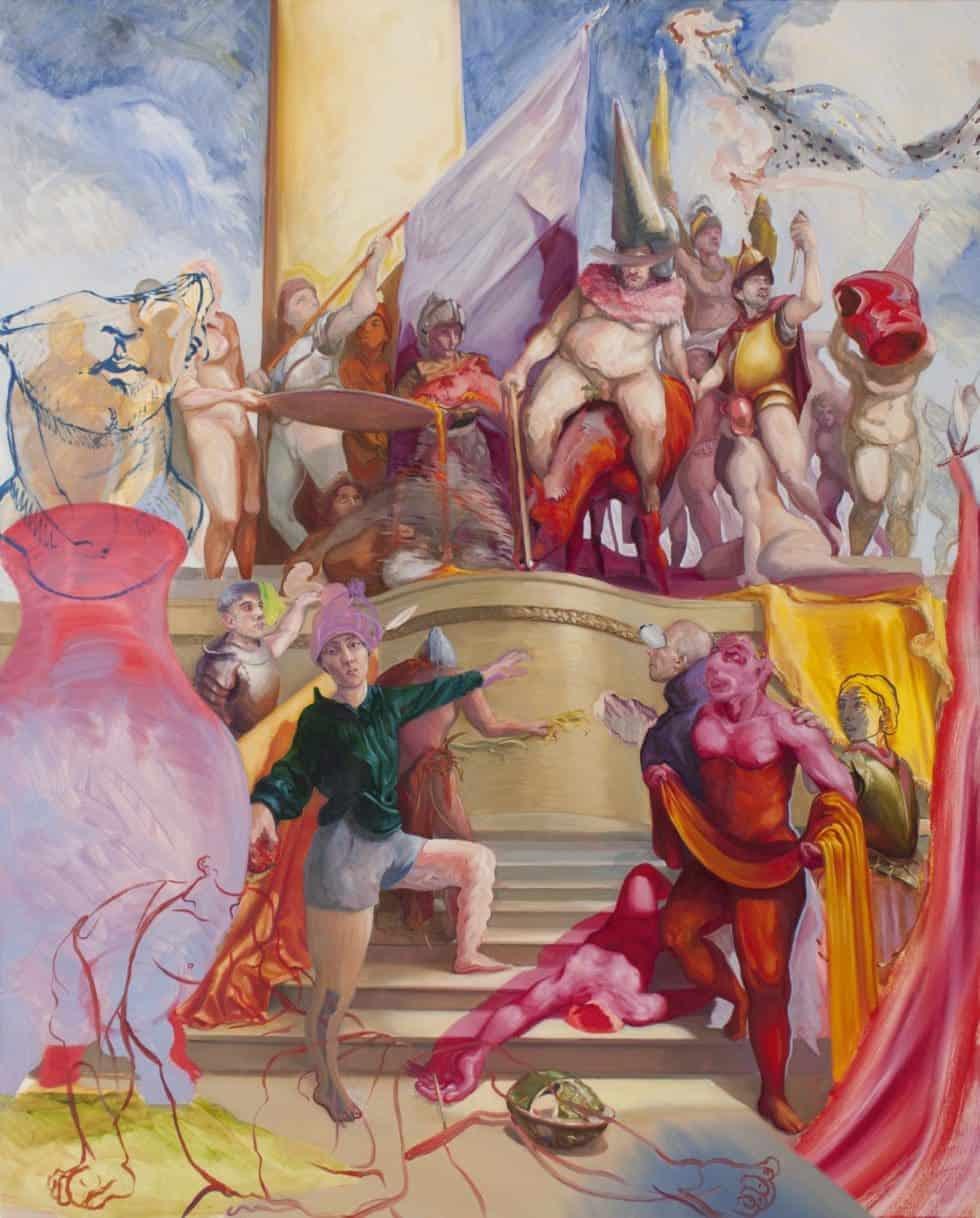Enzo Certa - Forçar o vício Artes & contextos Tim peinture a lhuile sur toile 2019 148cm x 120cm