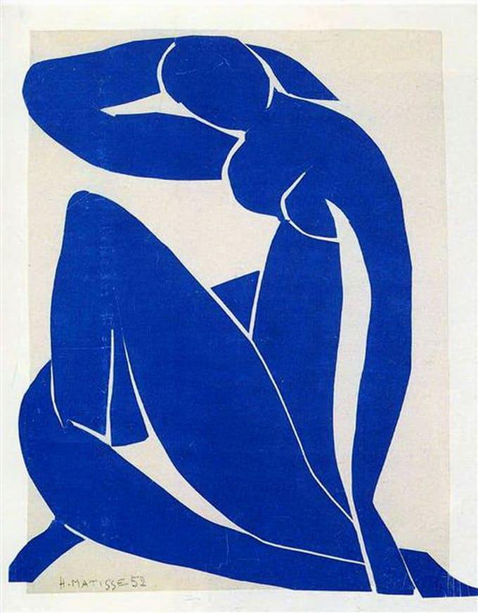 """Bleu Nu II,"" 1952, Henri Matisse (Imagem: WikiArt)"